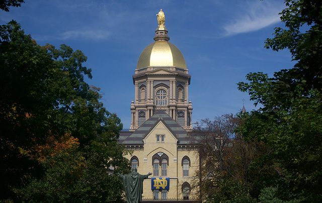 Notre Dame, South Bend, Indiana: Say a few Hail Mary's tonight and you might get into one of these prestigious schools.