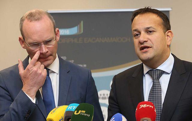 Simon Coveney and Leo Varadkar at an event in Dublin last year.