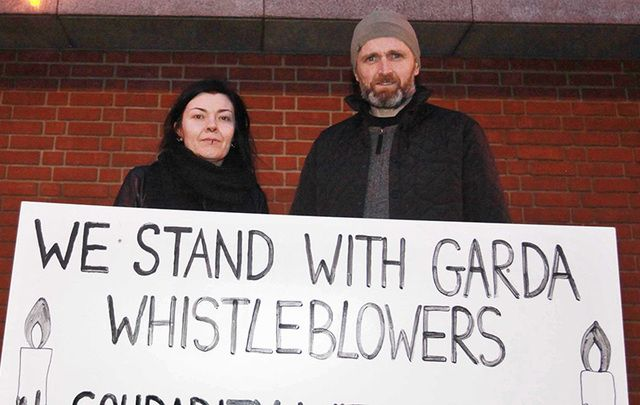 Vigils in support of whistleblower Sergeant Maurice McCabe took place across Ireland on Saturday, including this one in Finglas in Dublin.