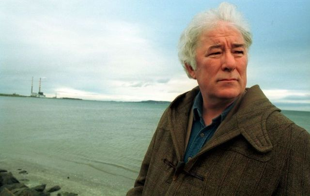 Irish Poet Seamus Heaney at Sandymount in Dublin in 1995.
