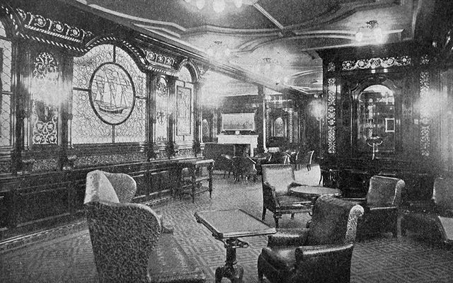 Photo of the Titanic's first class smoking room - Will this be recreated in a new Belfast hotel?