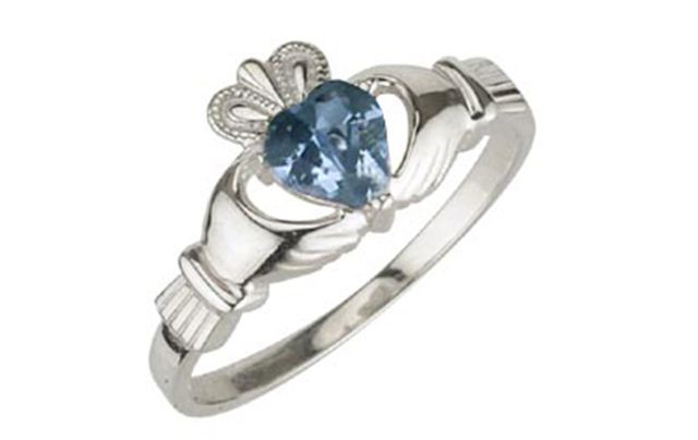 March's birthstone, aquamarine, is associated with courage, loyalty, friendship, communication, and beauty.