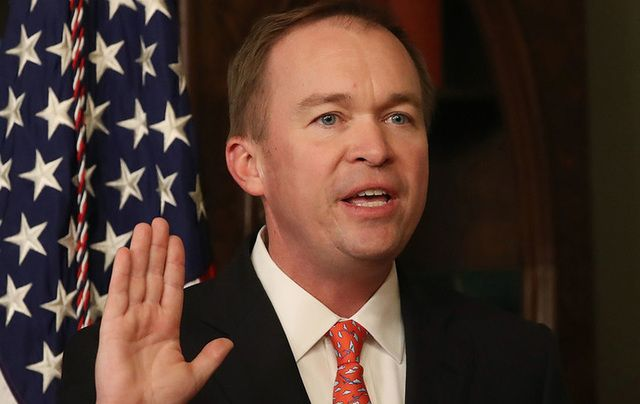 Mick Mulvaney, Director of the Office of Management and Budget (OMB).