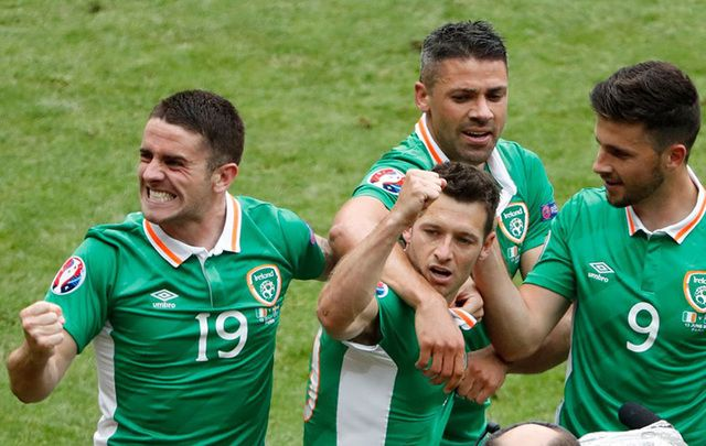 Republic of Ireland soccer stars.
