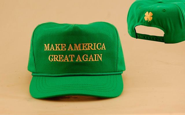 Saint Patrick\'s Day Make America Great Again hat