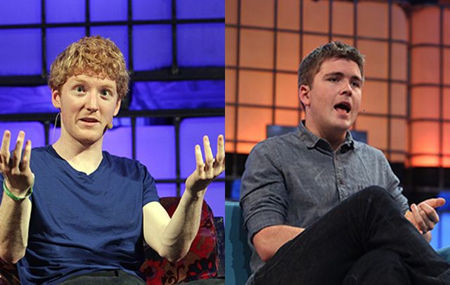 John and Patrick Collison, founders of Stripe.