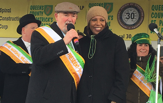 Parade president Mike Benn and Public Advocate Letitia James.