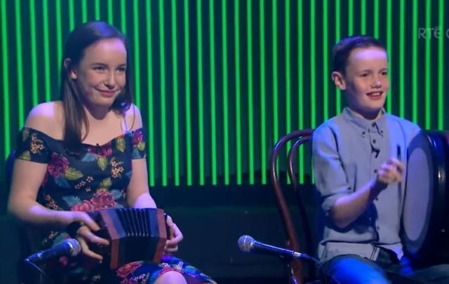 Aoife and Sean Maguire giving it socks on RTE\'s Ray D\'Arcy Show in 2016