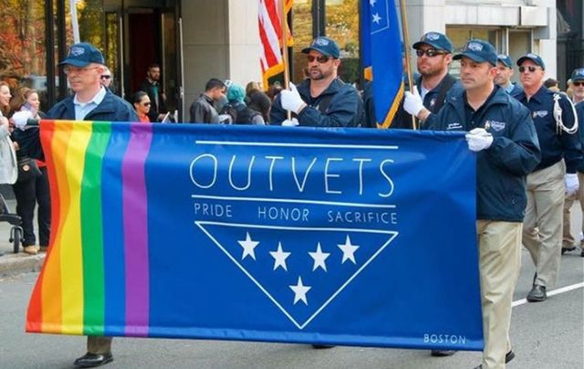 OutVets marching during previous years in the Boston St. Patrick\'s Day Parade.