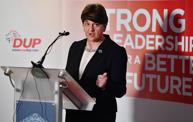 The Democratic Unionist Party leader Arlene Foster.