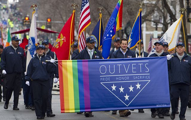 OutVets marching in the South Boston St. Patrick\'s Day Parade.