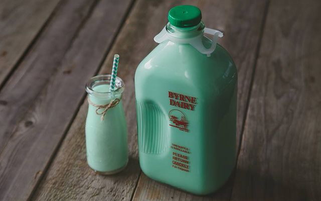 Byrne Dairy receives calls as early as January for their special St. Patrick's Day milk supply.