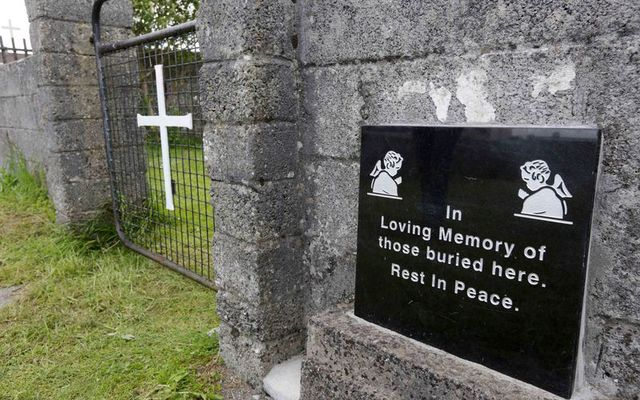 Memorial plaque to the children who died in the Tuam mother and baby home.