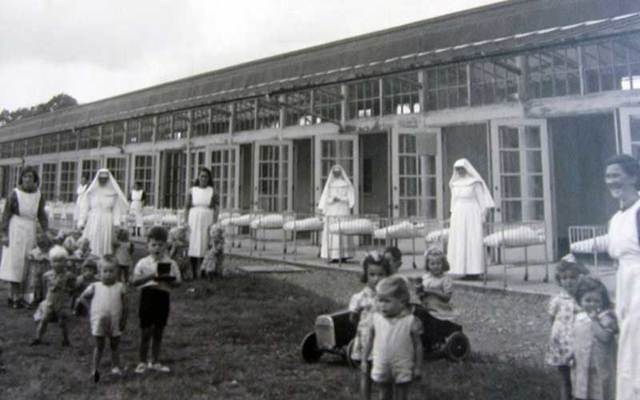 Children, supervised by nuns, at an Irish Mother and Baby Home.
