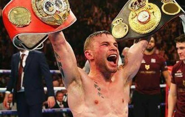 """Carl \""""The Jackal\"""" Frampton, will be the first Irish fighter in the 79-year history of the award to be named the Sugar Ray Robinson 2016 Fighter of the Year."""