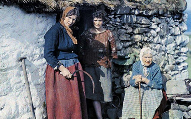 16-year-old Bridget Kane [center] moved to the US just months after the photograph was taken.