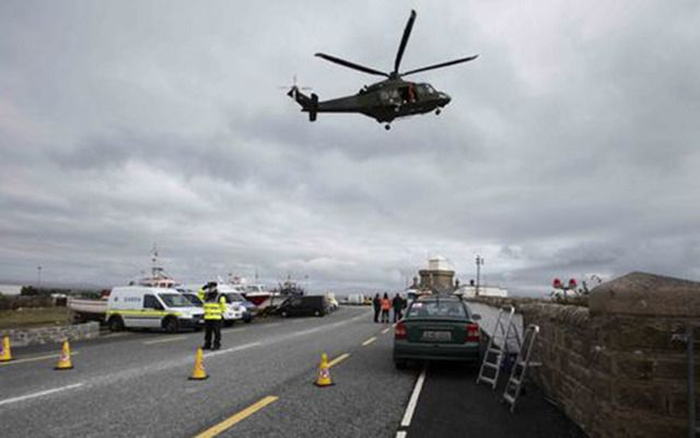 Search scene for helicopter R116 in Blacksod Bay, Co. Mayo.