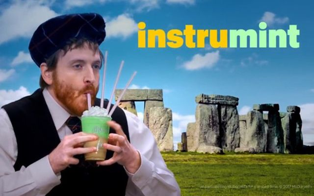 The background was English, the outfit and the music were Scottish but at least the actor had red hair.
