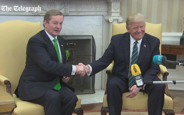 Trump is famous for his aggressive, extended handshakes. How do you think the Irish leader did?