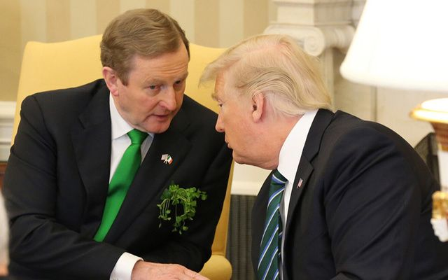 Enda Kenny meeting with President Donald Trump to celebrate St. Patrick's Day on Thursday, March 16.