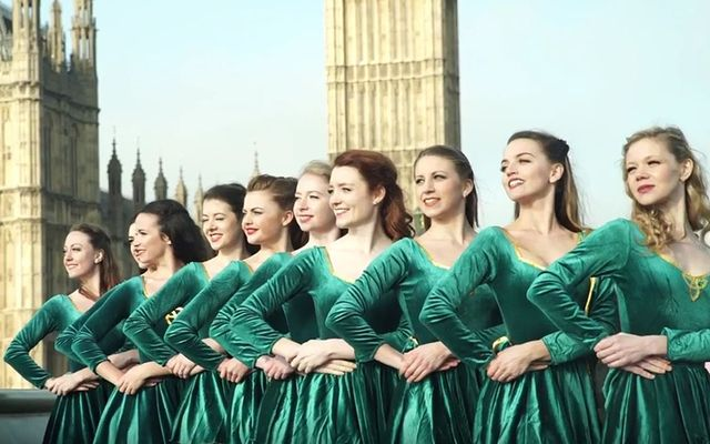 Irish dancers took over London