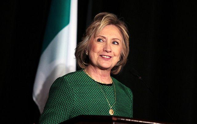 Former Secretary of State Hillary Clinton delivered the keynote address at the Society of Irish Women's 19th annual St. Patrick's Day dinner celebration on Friday.