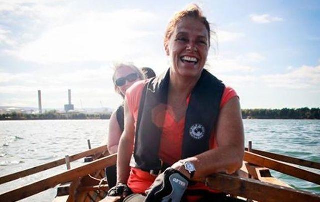 Anne Driscoll rowing a currach in Ireland! Irish You Were Here!