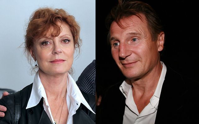 Susan Sarandon said she wishes rumors of an affair between her and Liam Neeson were true.