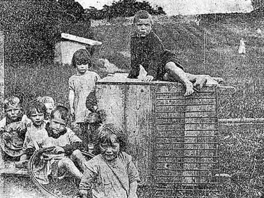 Children at the former St. Patrick's Home for Mothers and Babies in Tuam, Co. Galway