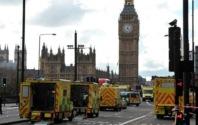 One-man terrorist attack on London\'s Westminster kills three innocents and injures 29. \n