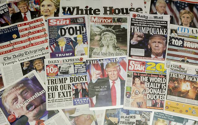 Donald Trump making the front pages of the newspapers...for the wrong reasons.