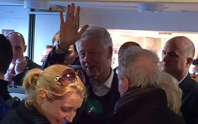 Bill Clinton shopping in Kilkenny Design in Dublin