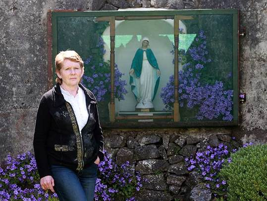Catherine Corless at the Tuam home memorial site