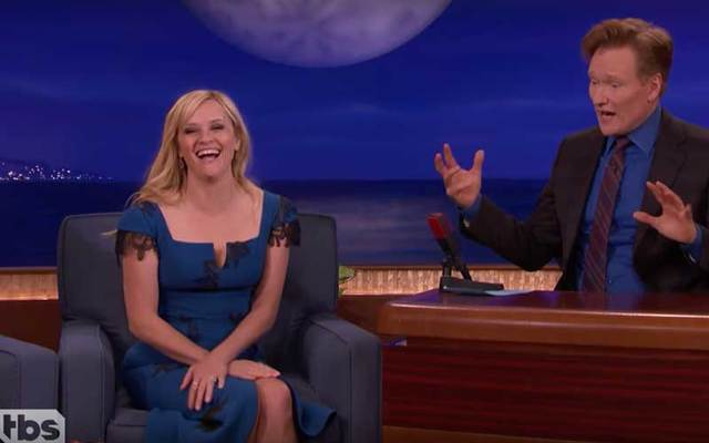 Reese Witherspoon revealed her Irish heritage on TBS\' \'Conan.\'
