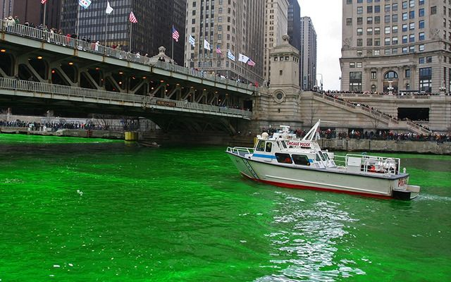 Is the dyeing of the Chicago River damaging to the water and the environment or a harmless act of celebration?