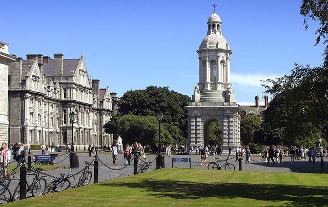 Trinity College Dublin's concourse.