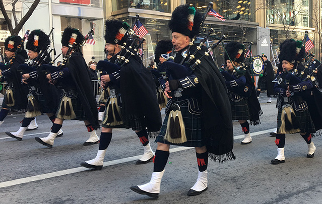 Marchers in this year's New York City St. Patrick's Day parade.
