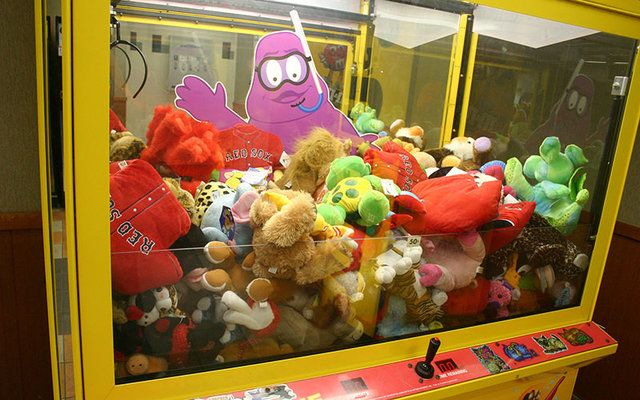 Arcade claw grab games are frustrating, we can't blame him for wanting to take matters into his own hands!