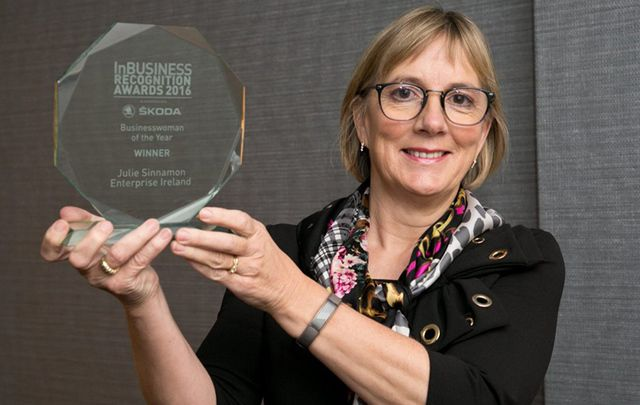 Julie Sinnamon has been the CEO of Enterprise Ireland for over 3 years. She was the first woman to climb to the top position in the governmental agency supporting indigenous Irish companies.