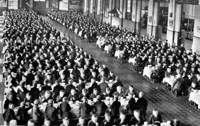 Young boys, inmates of an Irish industrial school.