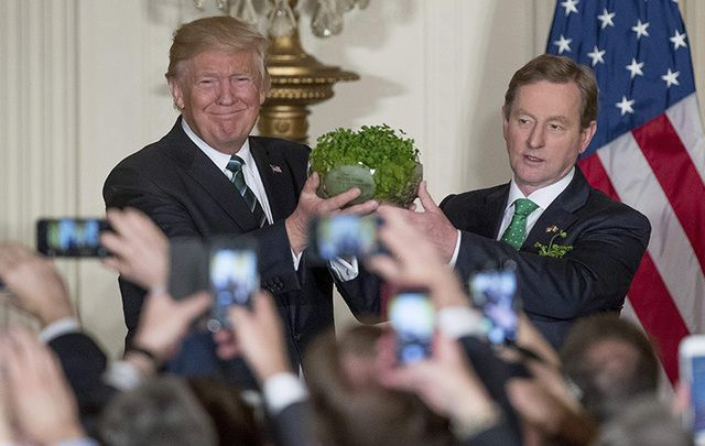 Trump and Kenny meet on St. Patric's Day