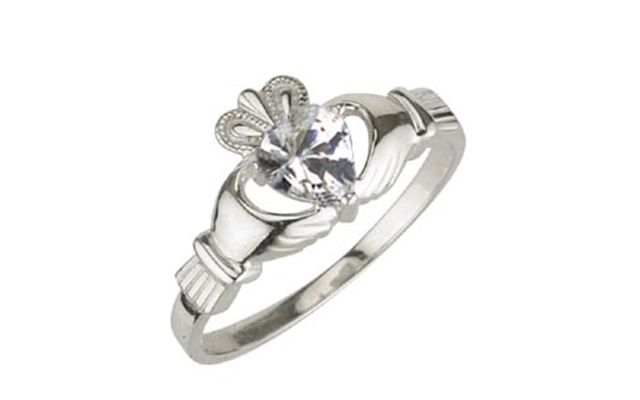April\'s Claddagh birthstone is diamond, the most famous and revered of all the gemstones.