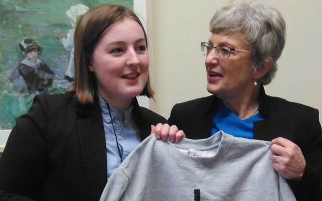 Katie McGloin, 16, has been named the Foróige Youth Entrepreneur of the Year 2017 for her gender-neutral clothing line.