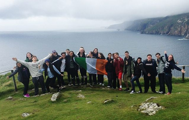 Participants of the 2016 Global Irish Summer Camp