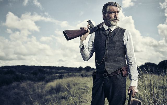 Pierce Brosnan stars as cattle baron Eli McCullough in The Son.