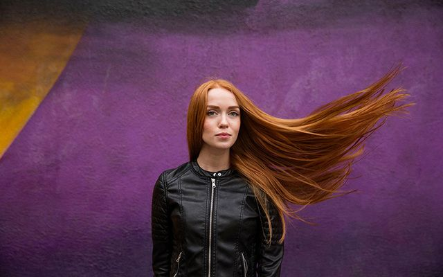 "Marina from Moscow, one of the women featured in the ""Redhead Beauty"" book."