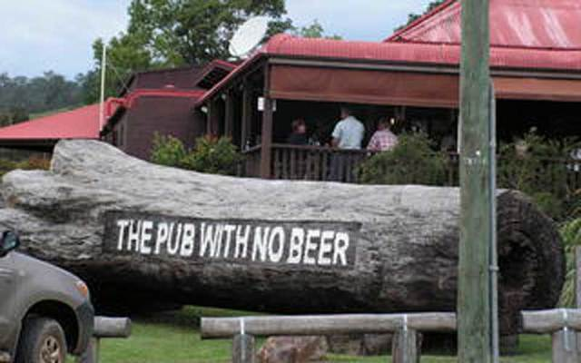 The Pub with No Beer Hotel.