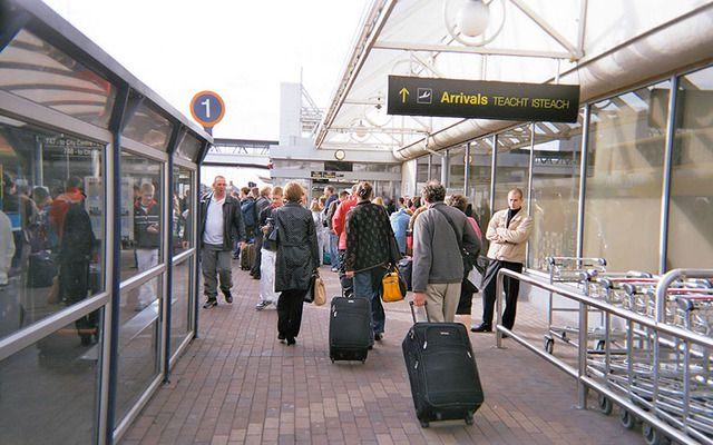Outside arrivals at Dublin Airport