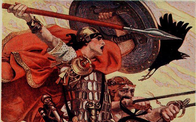 Irish mythical hero Cú Chulainn.