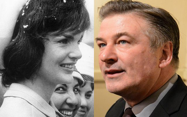 Jackie Kennedy and Alec Baldwin.